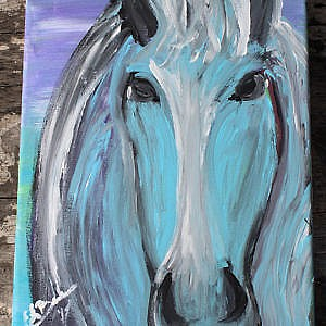 Blue Horse Beauty