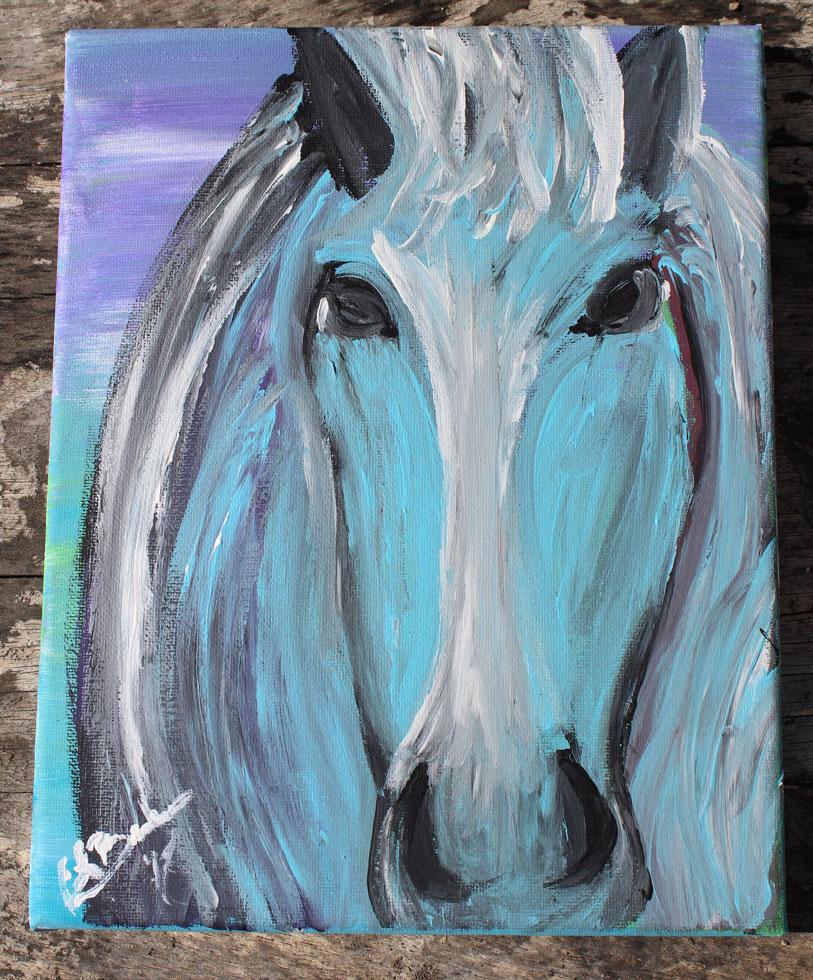 Blue Horse Beauty