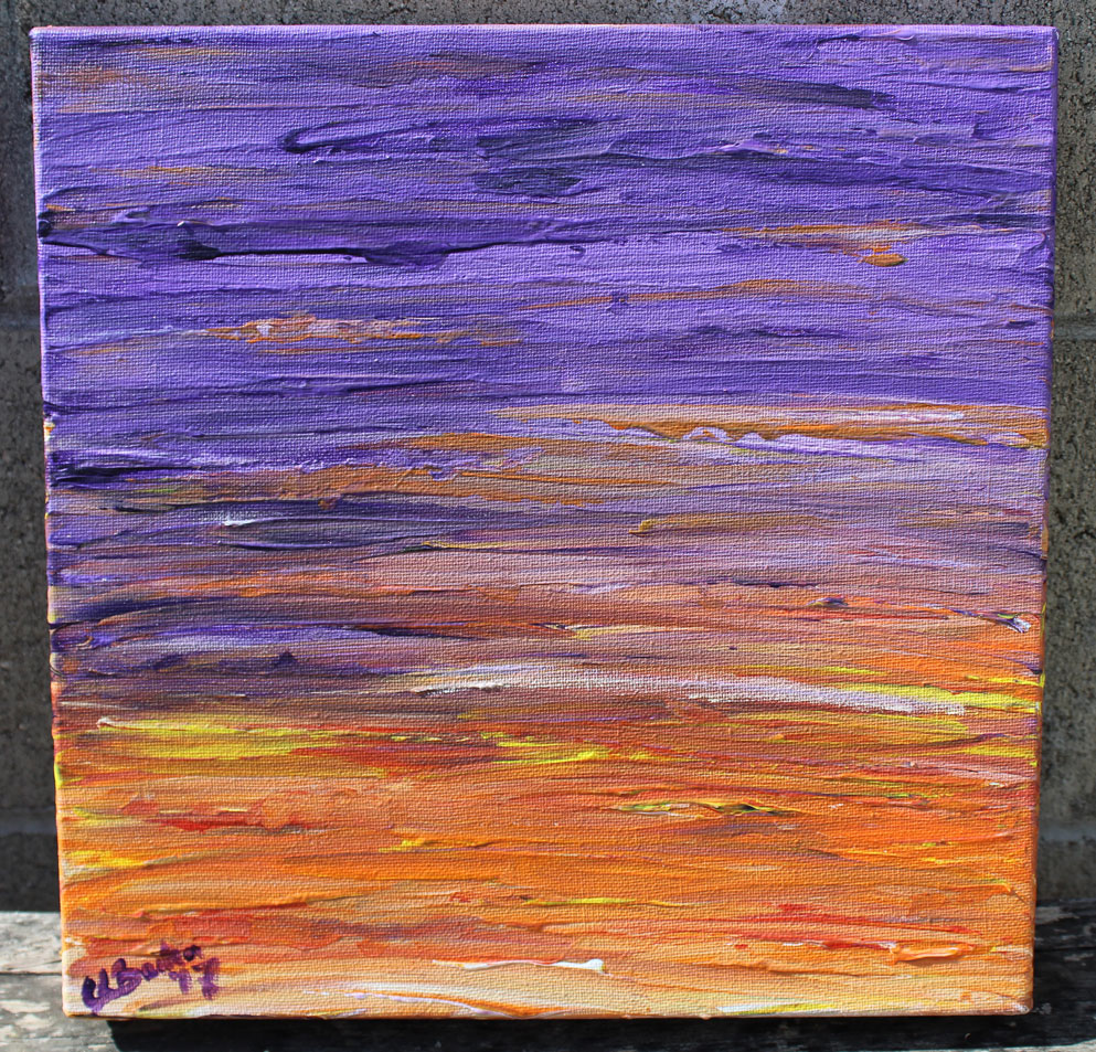 Purple and Orange abstract
